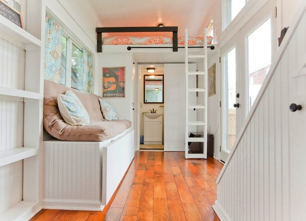 White Tiny Home Interior 18 Storage Ideas For Small