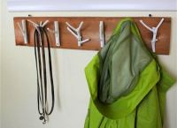 DIY Branch Coat Rack - Scrap Wood Projects: 21 Easy DIYs ...