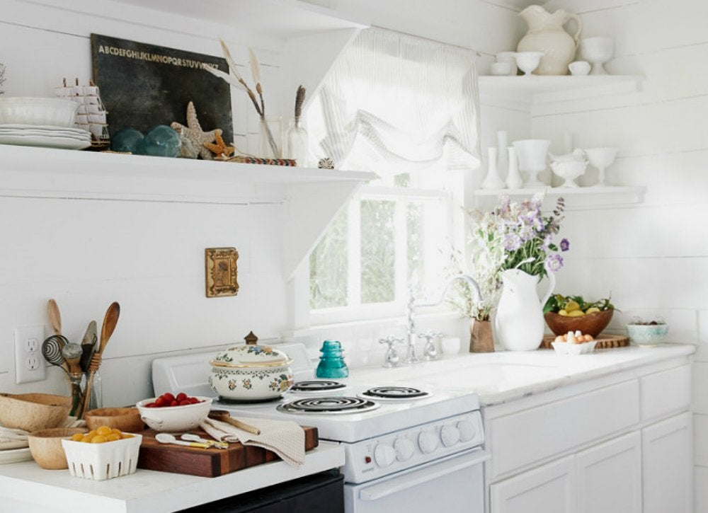 Add Corner Shelving For More Space In A Tiny Kitchen