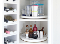 DIY Lazy Susan Cabinet Storage - How to Organize Your ...