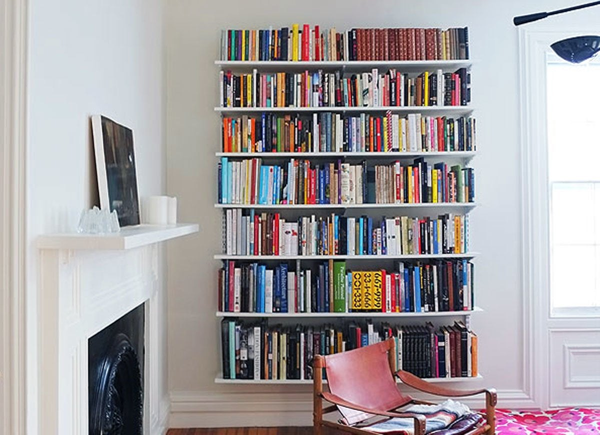 Wall-mounted Book Shelves - Room Remodel 15