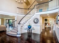 Grand Entryway with Staircase - Front Entry Ideas - 18 ...