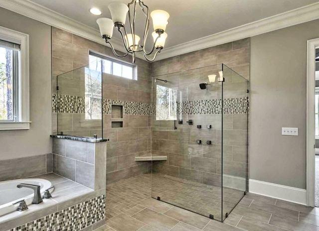 Open door shower