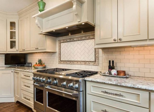 Subway tile accent