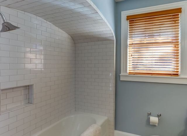 Subway tile ceiling