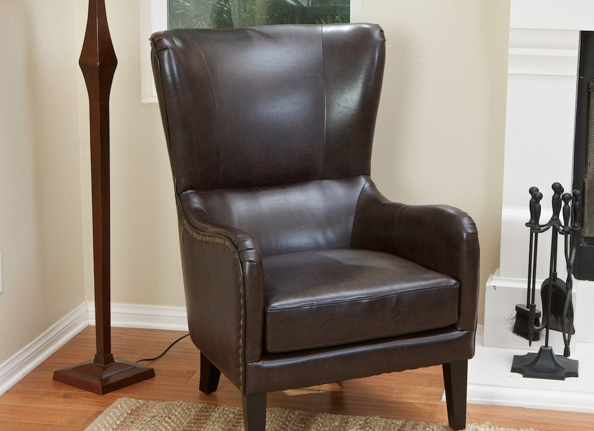 cheap leather wingback chairs office chair with footrest armchairs 15 options under 500 bob vila