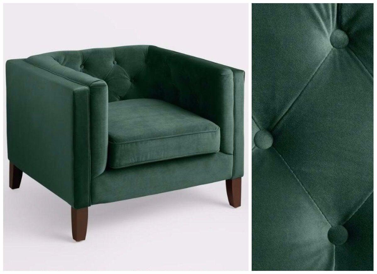 Green Velvet Chair  Cheap Armchairs  15 Options Under