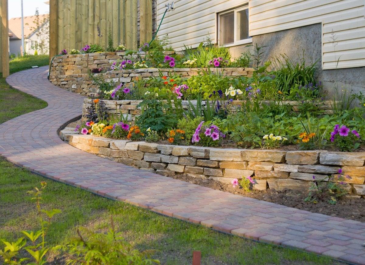 slope landscaping ideas for backyards