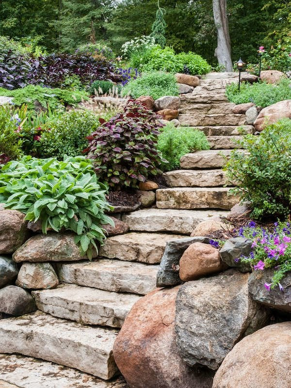 backyard slope landscaping ideas
