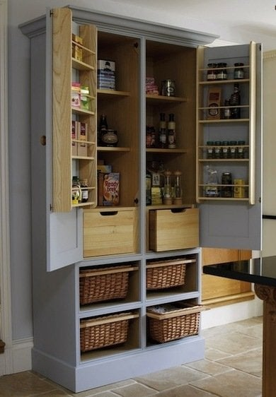 kitchen stand alone cabinet concrete floor repurposing armoires, armoire diy projects - 13 creative ...