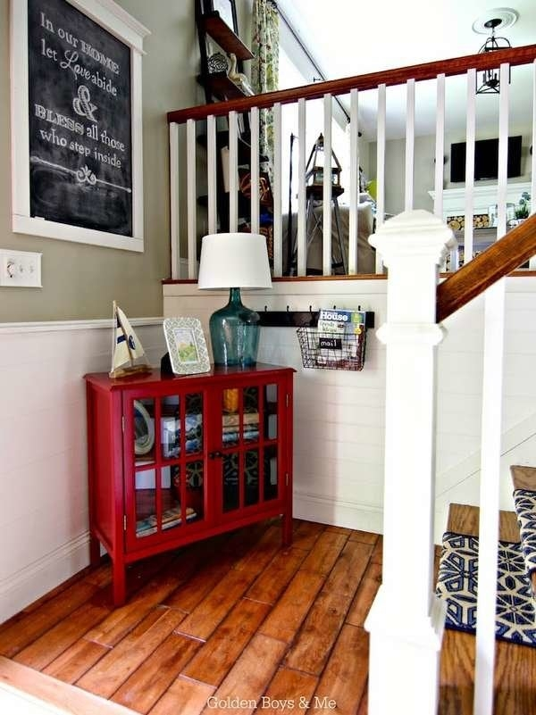 Foyer Ideas Entry Hall Decor 15 Ways To Make A Great Entrance | Split Level Entry Stairs | Wood | Half Wall | Stairwell | Raised Bungalow | Interior