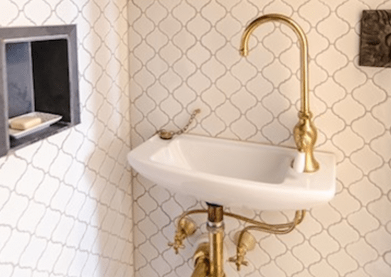 Unlacquered Brass  10 Bathroom Trends of Today