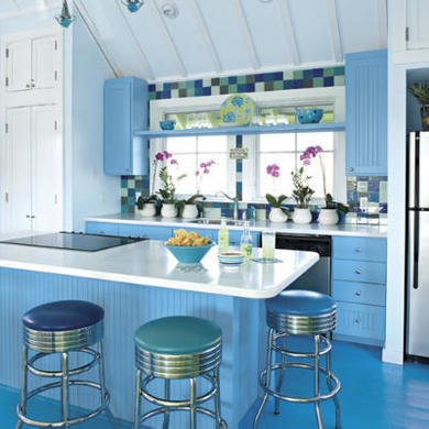 Blue kitchen southernliving.com