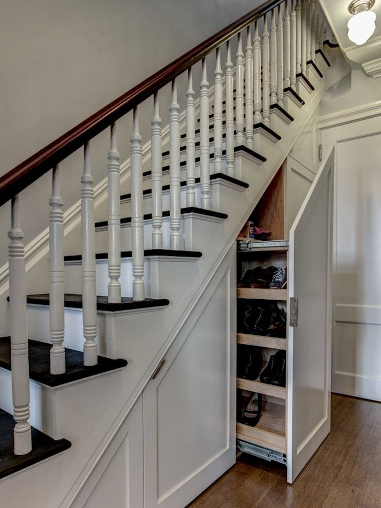 Under Stair Storage 17 Clever Ideas Bob Vila | Clever Stairs For Small Spaces | Beautiful | Small Home | Compact | Decorative | Small Apartment