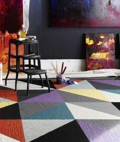 Cheap Flooring Ideas 15 Totally Unexpected Diy Options Bob Vila   Flor Carpet Tiles For Stairs   Diy Stair   Carpet Runners   Patterned Carpet   Area Rugs   Floor Tiles