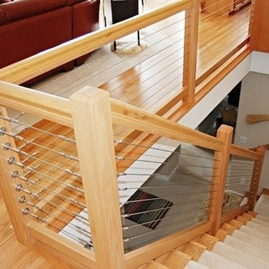 Staircase Railing 14 Ideas To Elevate Your Home Design Bob Vila   Unique Handrails For Stairs   Residential Staircase   Hand Rail   Simple   Inside   Interior