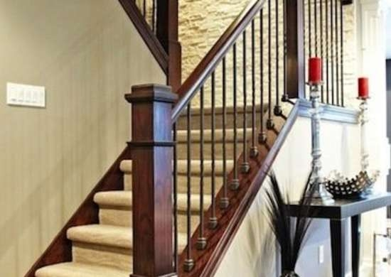 Staircase Railing 14 Ideas To Elevate Your Home Design Bob Vila | Black Banister With White Spindles | Brazilian Cherry Stair | Victorian | Traditional Home | Iron Spindle White Catwalk Brown Railing | Gray