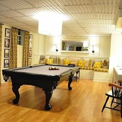 Pool table basement makeover