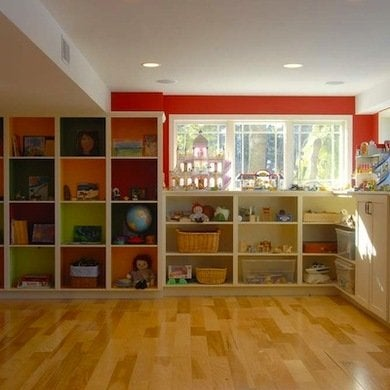 Playroom basement makeover