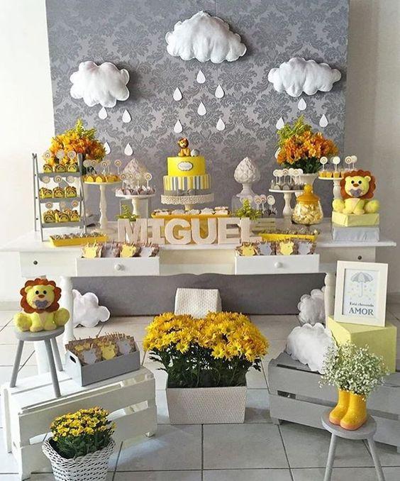 10 temas de decoraç u00e3o de chá de beb u00ea menino u2013 EuNeném Blog -> Decoração Cha De Bebe Tema Urso