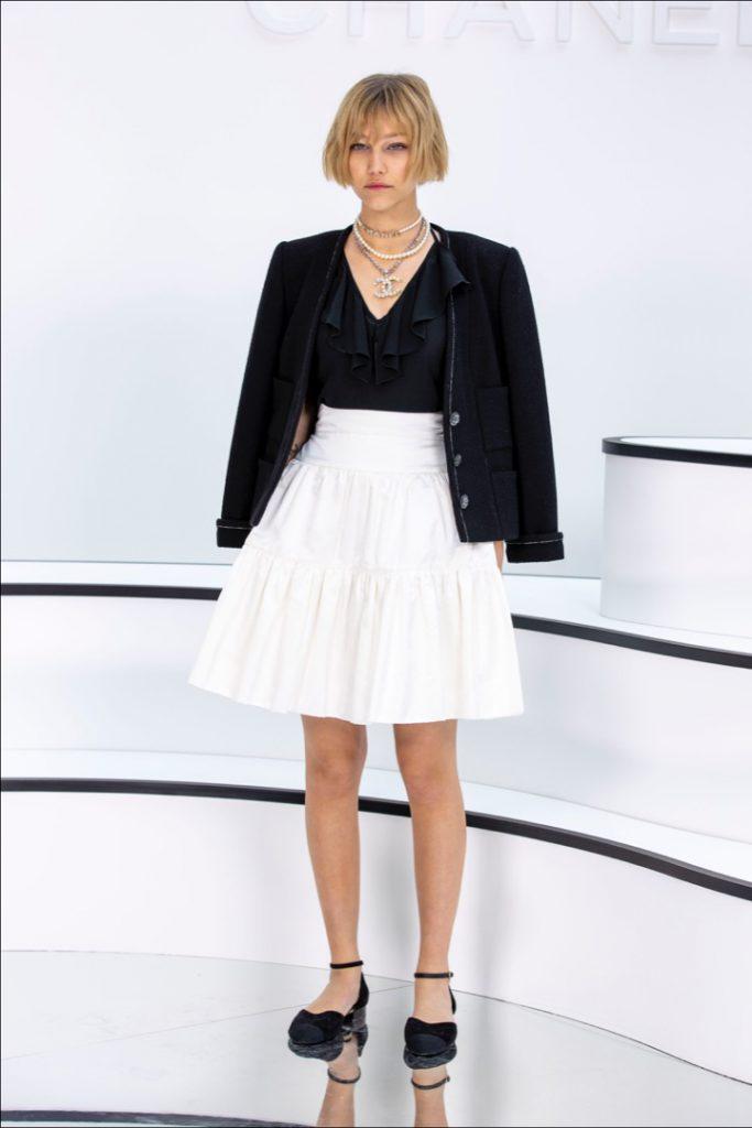 Sasha Beljaev. Street style at the Chanel show.