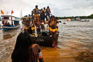 São Félix do Xingu (PA) - Cerca de quatro mil indígenas participam da Semana dos Povos Indígenas. O evento começou no sábado (15) e vai até quarta-feira (19), quando é celebrado o Dia do Índio. Foto: Thiago Gomes/Agência Pará