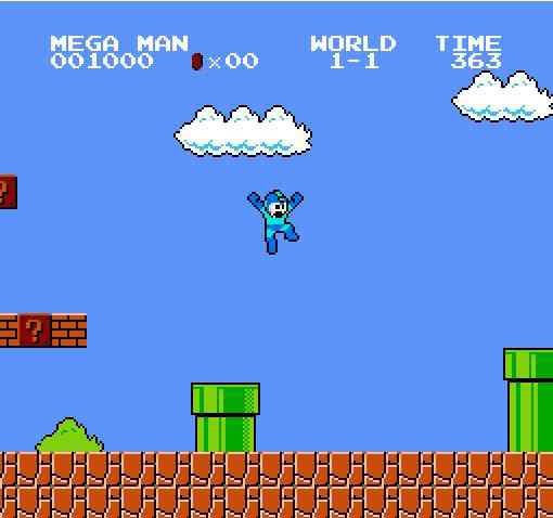 Toca dos Jogos - Mario Crossover com Megaman