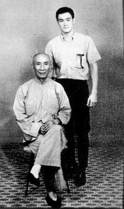 Yip Man com Bruce Lee