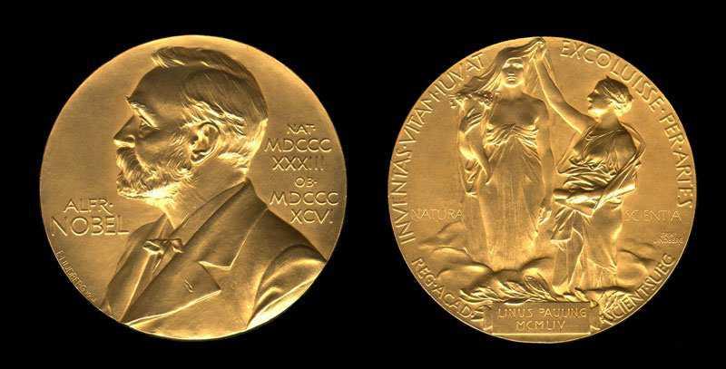 O premio Nobel é de ouro maciço!