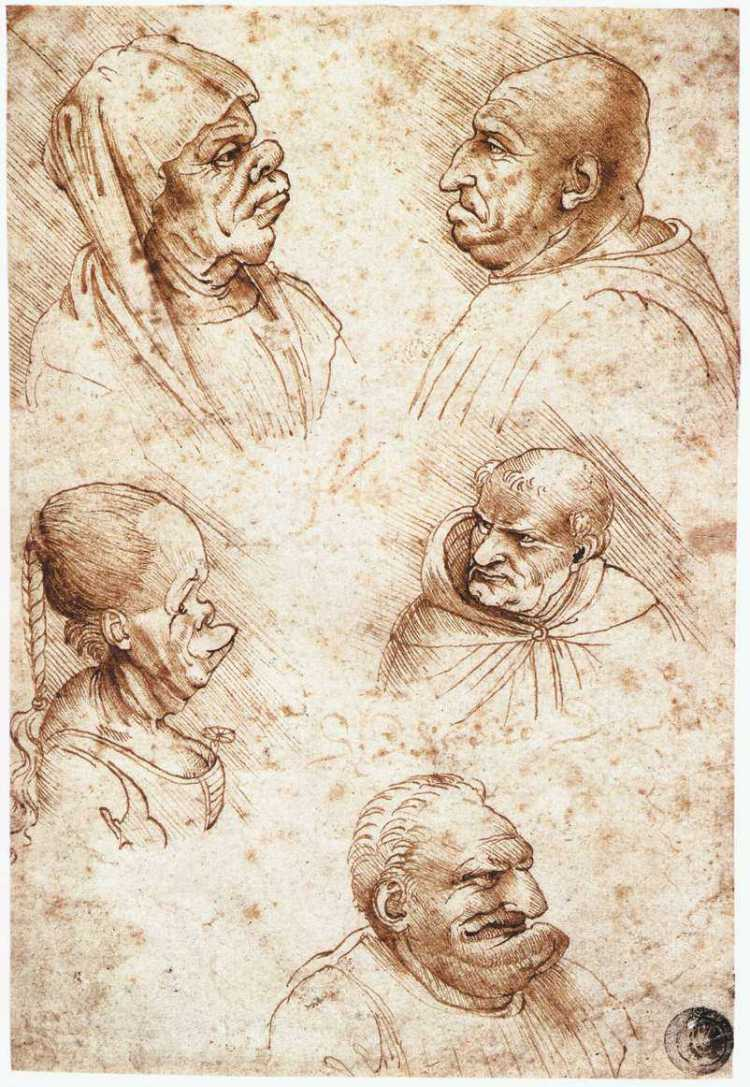 12812-five-caricature-heads-leonardo-da-vinci