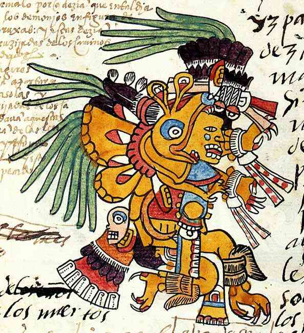 Aztec Plumed Serpent Quetzzalcoatl