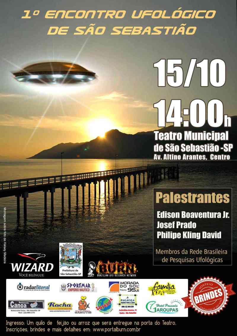 Cartaz - Primeiro Encontro Ufológico de São Sebastião