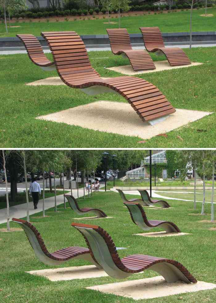 Chaise longue, Cadigal verdes, da Universidade de Sydney, Austrália
