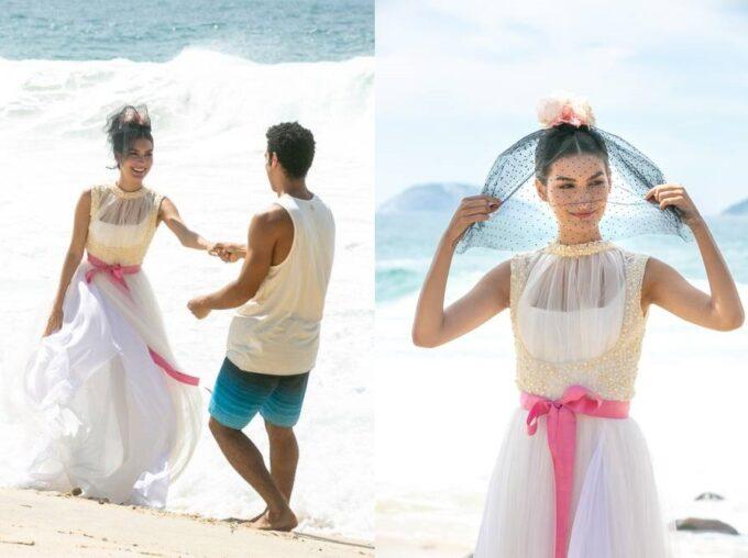 Verão 90: Larissa desiste do casamento e foge com Diego
