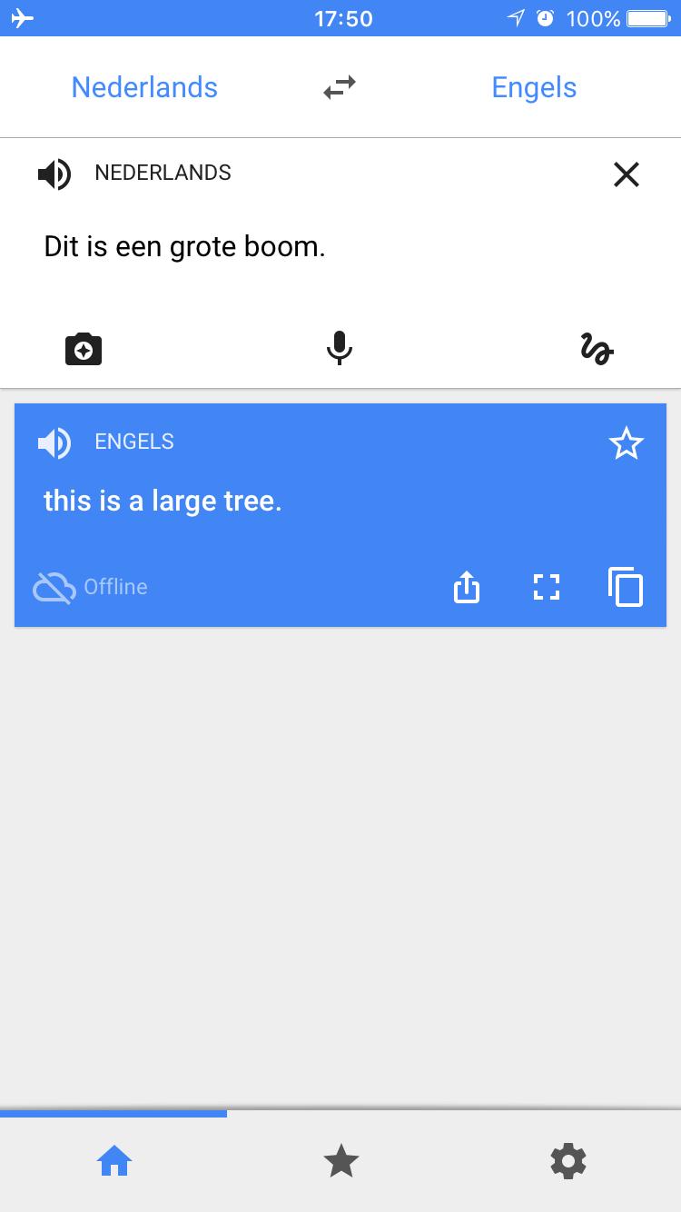 Google Translate kan nu offline vertalen in 52 talen