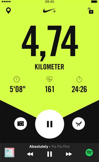 Nike+ Run Club-app past trainingsschema's automatisch aan