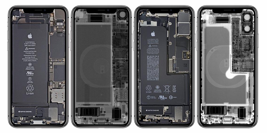 Iphone X Ifixit Wallpaper Ifixit Wallpapers Voor Iphone Xr En Xs Tonen De Binnenkant
