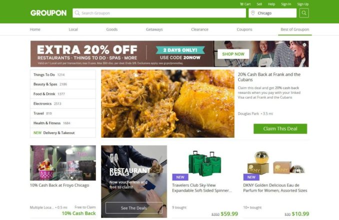 build your own affiliate website groupon example