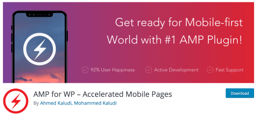 The AMP for WP plugin.
