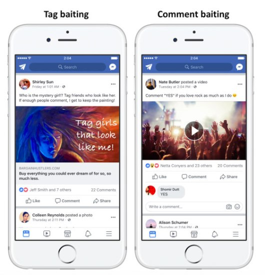 facebook algorithm change 2018 engagement bait