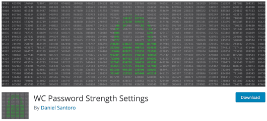 The WC Password Strength Settings plugin.