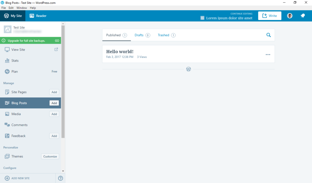 wordpress desktop app manage posts and pages