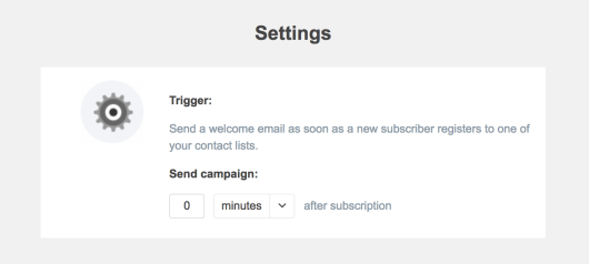 Choosing when the automated email will be triggered.