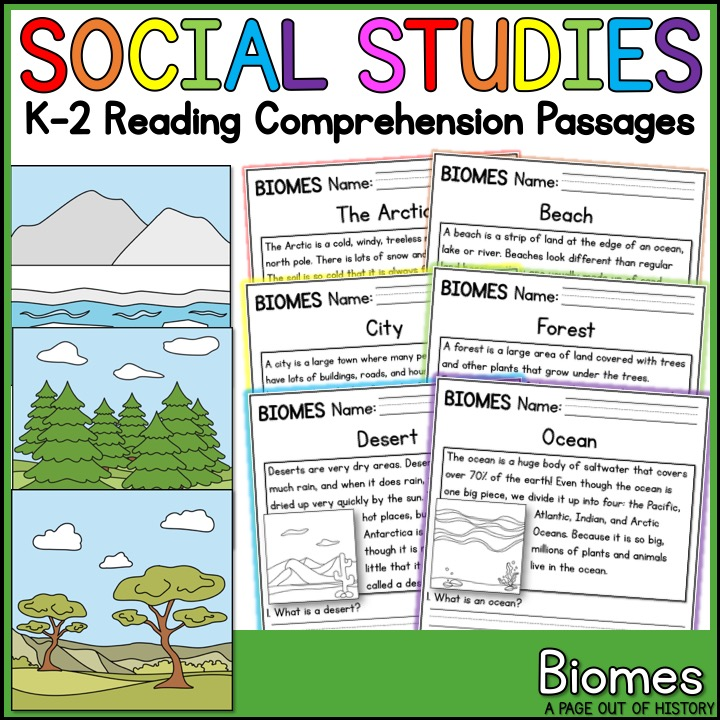 Biomes Reading Comprehension Passages K 2 A Page Out Of History