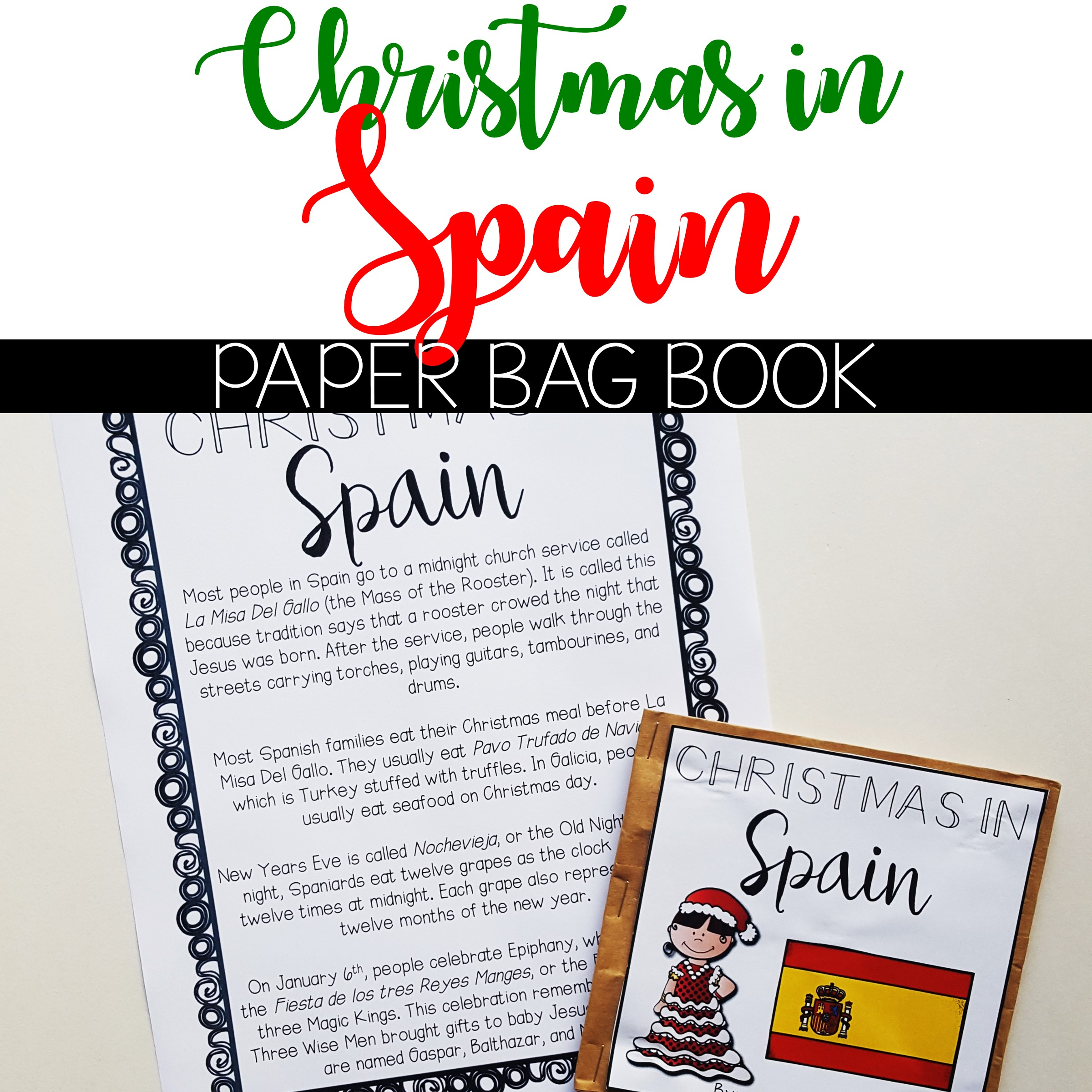 Christmas In Spain Christmas Around The World Paper Bag Book