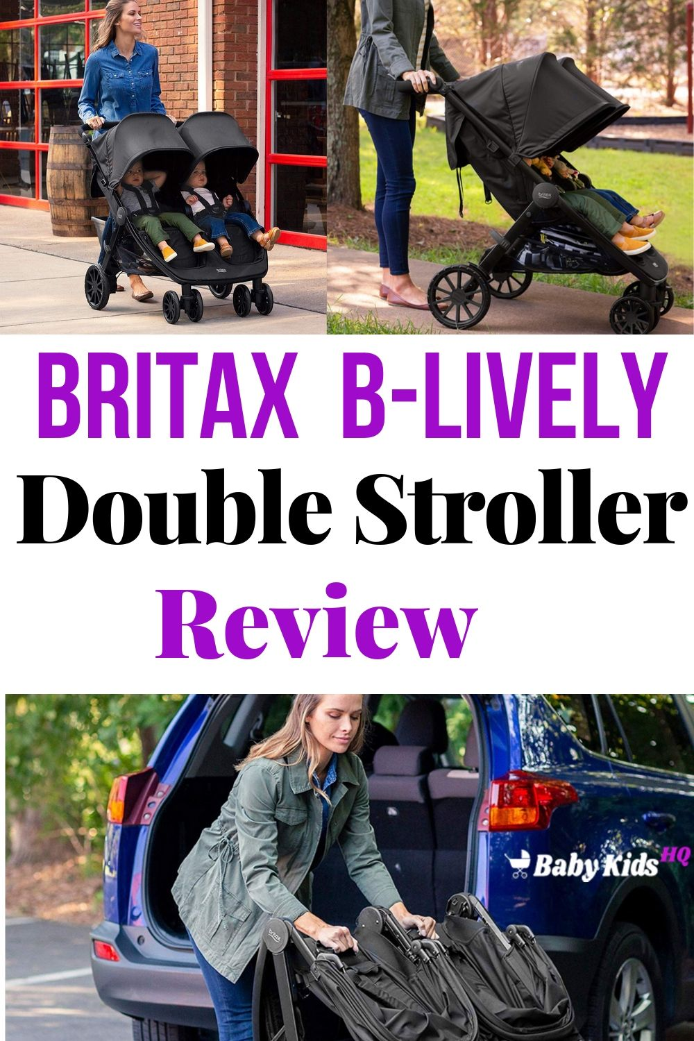 The Britax B-Lively is a lightweight and compact double stroller with state of the art suspension, an accessible storage basket, fully reclining seats and huge sun canopies.This double stroller is also an easy to use travel system thanks to Britax's Click & Go receivers! Read on to find out why reviewers are raving!