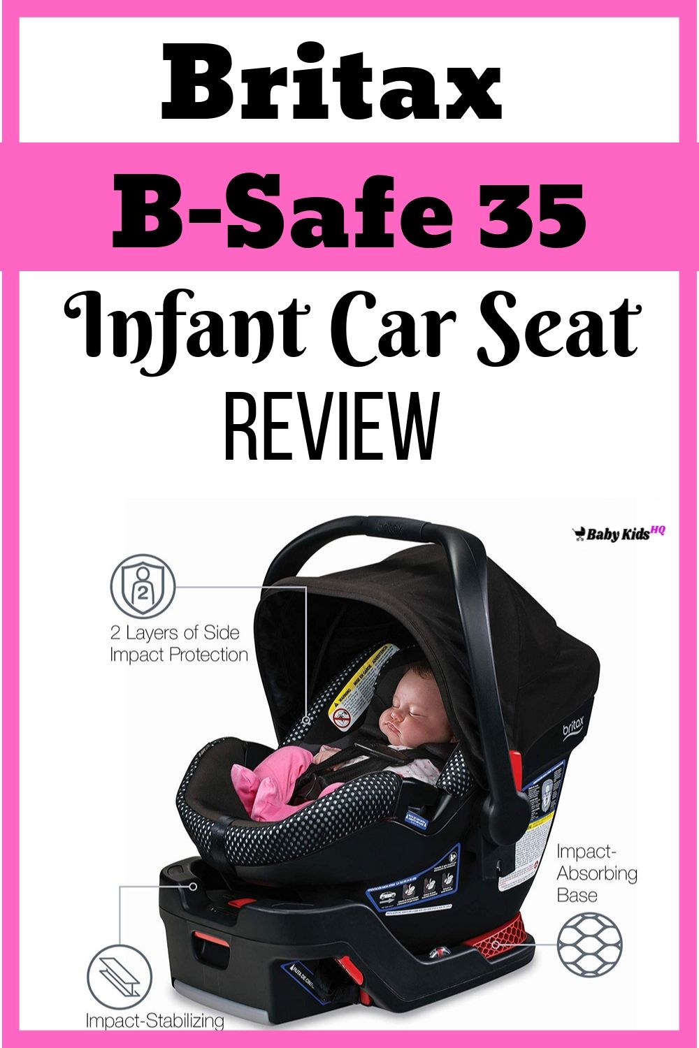 If you are looking for the safety provided by a Britax infant car seat but don't have room for the large and bulky Britax Chaperone seat, then check out the new Britax B-Safe 35 infant car seat.