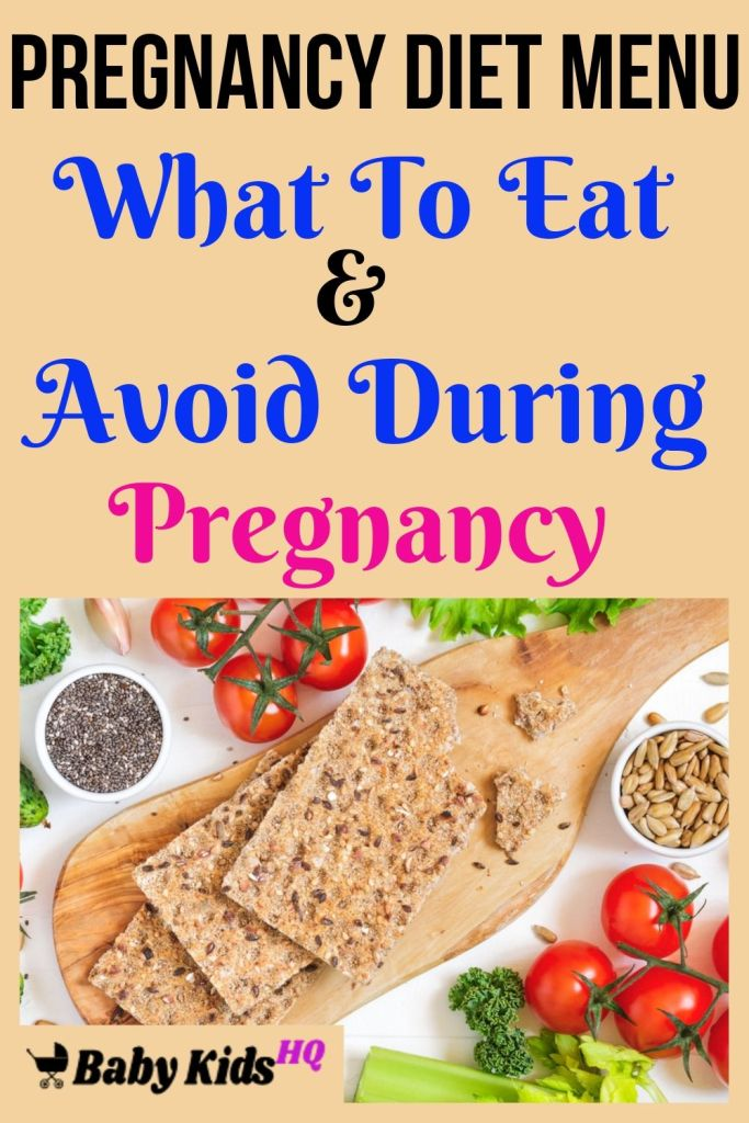 Pregnancy Diet Menu - What To Eat & Avoid During Pregnancy