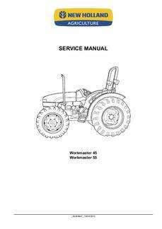 Service Manual for New Holland Tractors model Workmaster 55