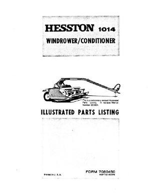 Hesston 7080450 Parts Book